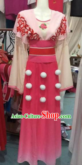 Chinese Beijing Opera Actress Pink Dress Ancient Nobility Lady Costume for Adults