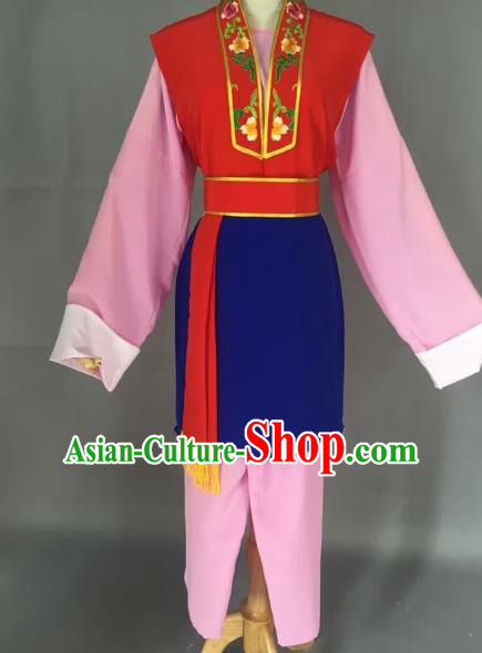 Chinese Beijing Opera Pantaloon Pink Clothing Ancient Village Women Costume for Adults
