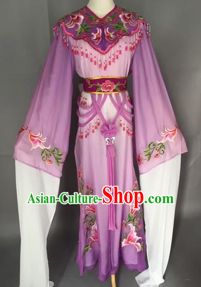 Chinese Beijing Opera Nobility Lady Purple Dress Ancient Princess Costume for Adults