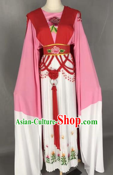 Chinese Shaoxing Opera Palace Lady Embroidered Dress Traditional Beijing Opera Diva Costume for Adults