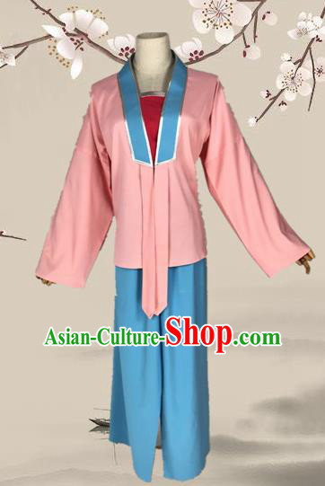 Chinese Beijing Opera Maidservants Clothing Ancient Village Girl Costume for Adults