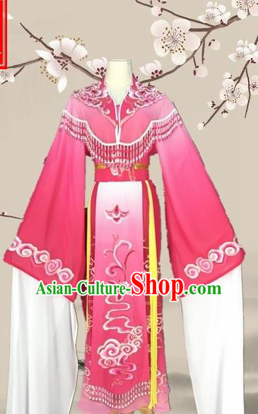 Chinese Traditional Beijing Opera Actress Rosy Clothing Ancient Princess Costume for Adults