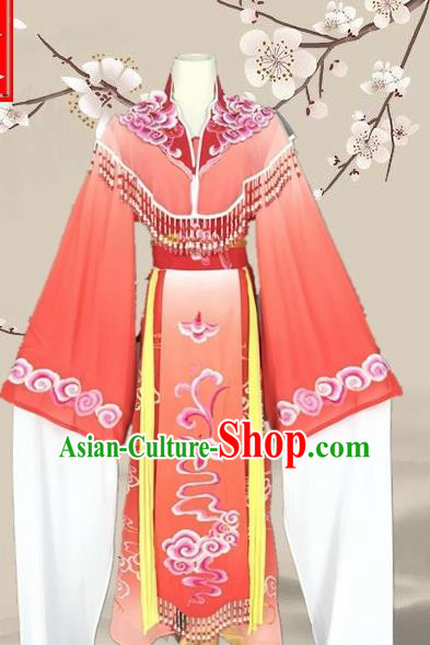 Chinese Traditional Beijing Opera Actress Red Clothing Ancient Princess Costume for Adults