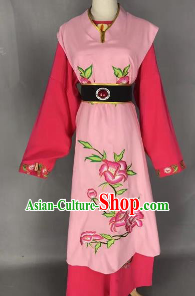 Chinese Beijing Opera Niche Pink Clothing Traditional Peking Opera Costumes for Adults