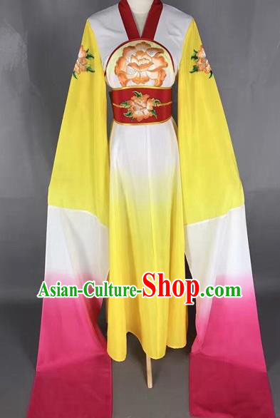 Chinese Traditional Peking Opera Water Sleeve Dress Ancient Princess Embroidered Costume for Adults