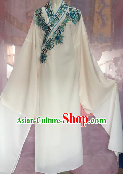 Chinese Beijing Opera Scholar White Clothing Traditional Peking Opera Niche Costumes for Adults