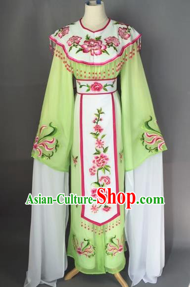 Chinese Beijing Opera Diva Green Dress Clothing Ancient Princess Costume for Adults