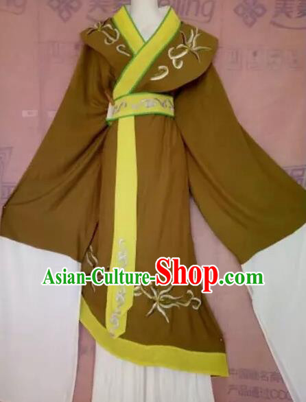 Chinese Beijing Opera Pantaloon Green Clothing Ancient Woman Matchmaker Costume for Adults