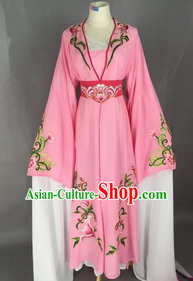 Chinese Beijing Opera Actress Pink Dress Ancient Rich Lady Costume for Adults