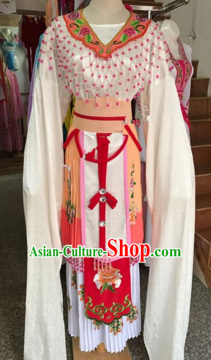 Chinese Ancient Princess Orange Costume Traditional Beijing Opera Diva Dress for Adults