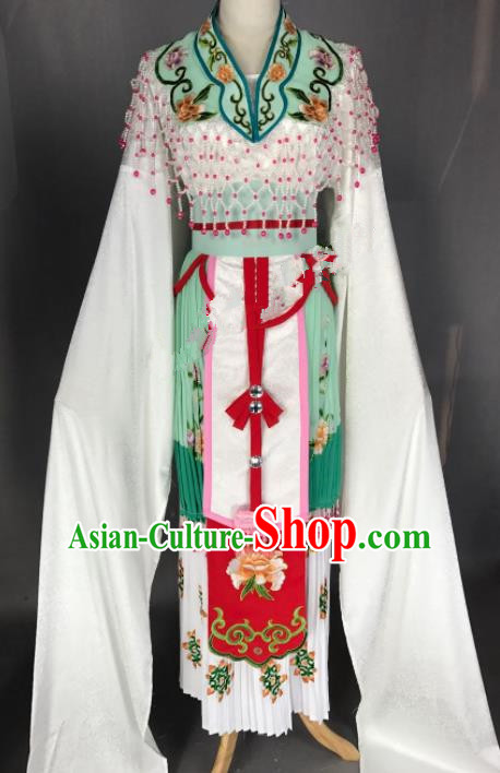 Chinese Ancient Princess Green Costume Traditional Beijing Opera Diva Dress for Adults
