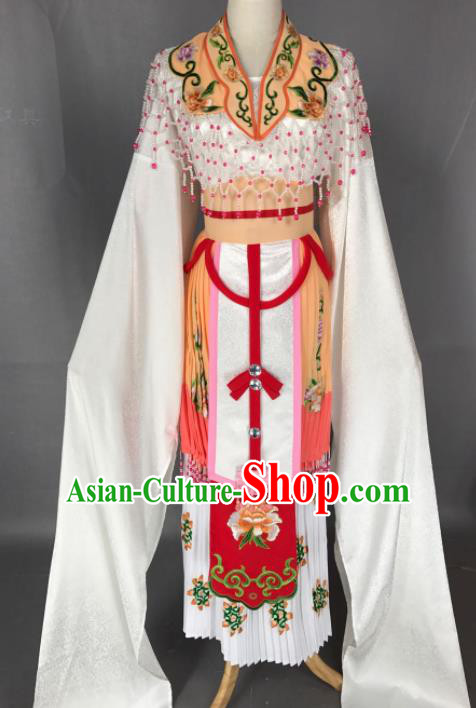 Chinese Ancient Princess Yellow Costume Traditional Beijing Opera Diva Dress for Adults