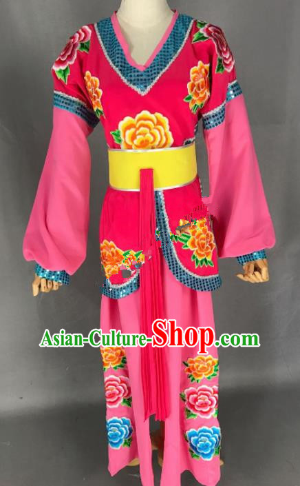 Chinese Ancient Maidservants Costume Traditional Beijing Opera Diva Dress for Adults