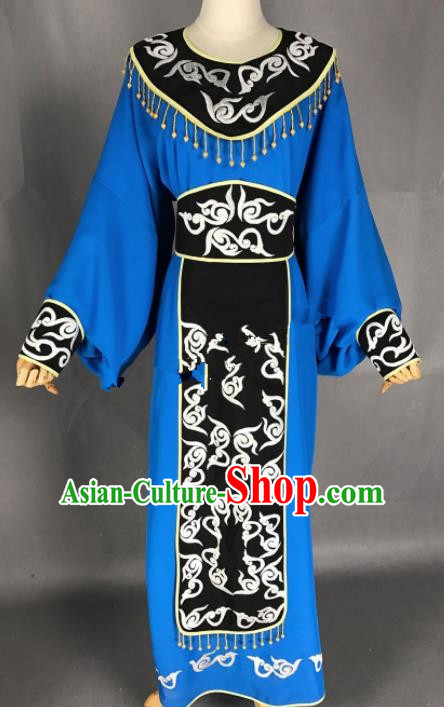 Chinese Beijing Opera Niche Blue Clothing Traditional Peking Opera Scholar Costume for Adults