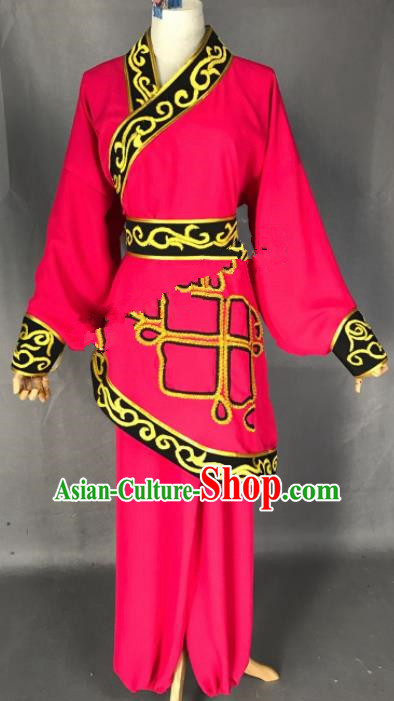 Chinese Ancient Swordswoman Red Costume Traditional Beijing Opera Martial Arts Female Clothing for Adults