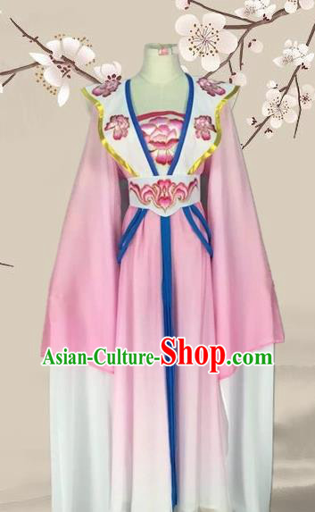 Chinese Ancient Palace Princess Pink Dress Traditional Beijing Opera Diva Costume for Adults