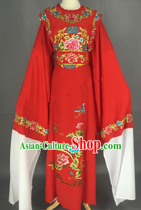 Chinese Beijing Opera A Dream in Red Mansions Jia Baoyu Red Clothing Traditional Peking Opera Niche Costume for Adults