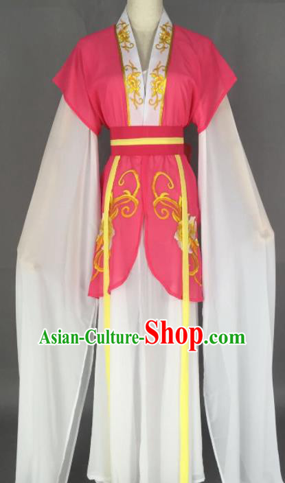 Chinese Ancient Court Maid Pink Dress Traditional Beijing Opera Actress Costume for Adults