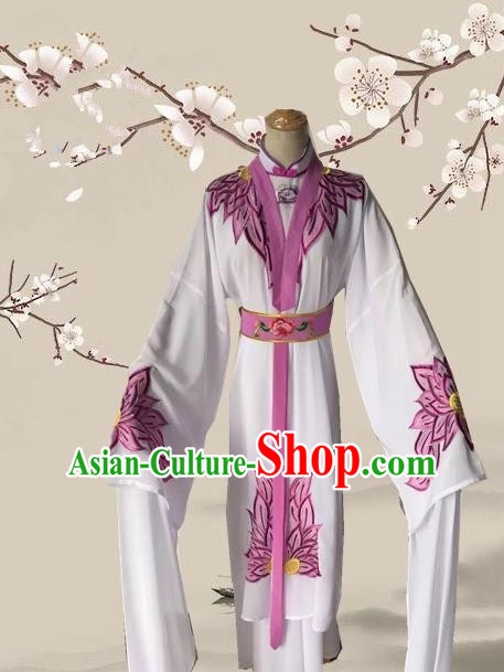 Chinese Ancient Buddhist Nun Dress Traditional Beijing Opera Actress Costume for Adults
