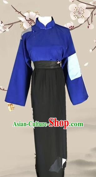Chinese Ancient Beggar Clothing Traditional Beijing Opera Poor Women Costume for Adults