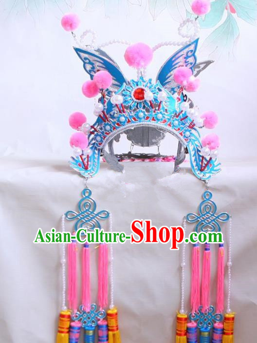 Chinese Traditional Beijing Opera Female Magic Warriors Phoenix Coronet Headwear for Women