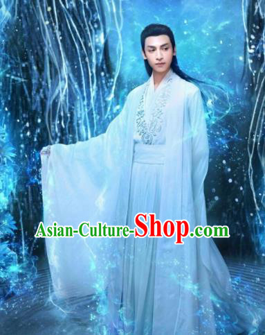 Chinese Ancient Prince Clothing The Honey Sank Like Frost Swordsman Costumes for Men