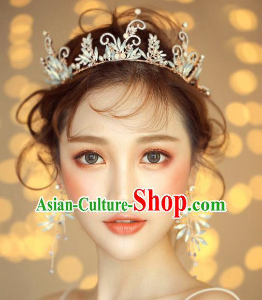 Top Grade Wedding Hair Accessories Bride Royal Crown Headwear for Women