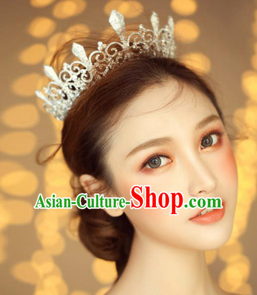 Top Grade Wedding Hair Accessories Bride Royal Crown for Women