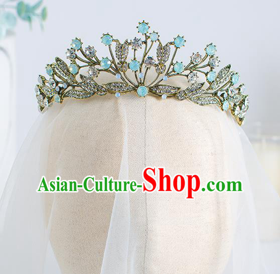 Top Grade Wedding Hair Accessories Bride Crystal Royal Crown for Women