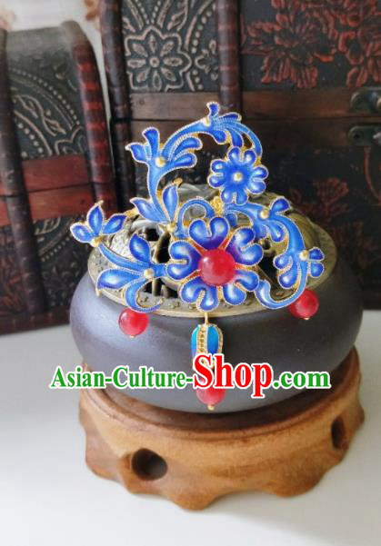 Chinese Ancient Cloisonne Hair Clip Qing Dynasty Hair Accessories Hairpins for Women