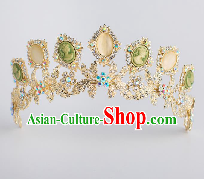 Top Grade Wedding Hair Accessories Bride Baroque Queen Retro Royal Crown for Women