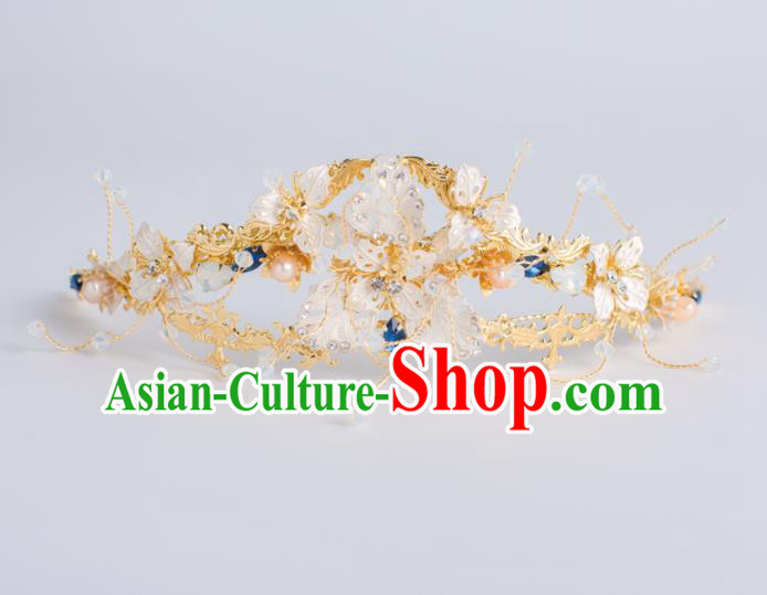 Top Grade Wedding Hair Accessories Bride Retro Shell Royal Crown for Women