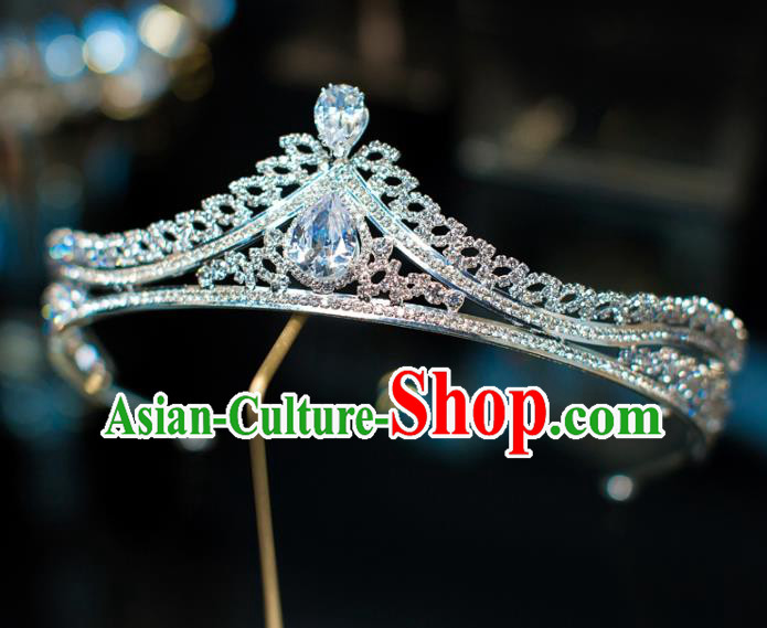 Top Grade Wedding Hair Accessories Baroque Princess Zircon Royal Crown for Women