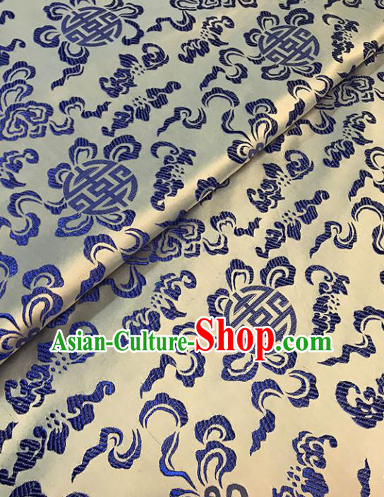 Asian Chinese Traditional Royal Pattern Golden Brocade Fabric Silk Fabric Chinese Fabric Material