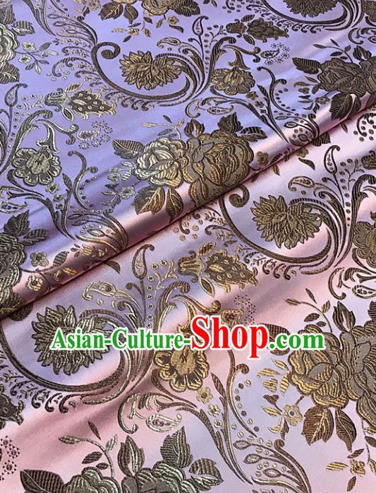 Pink Brocade Asian Chinese Traditional Palace Pattern Fabric Silk Fabric Chinese Fabric Material