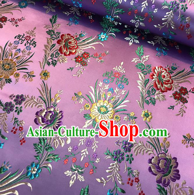 Pink Brocade Asian Chinese Traditional Palace Begonia Pattern Fabric Silk Fabric Chinese Fabric Material