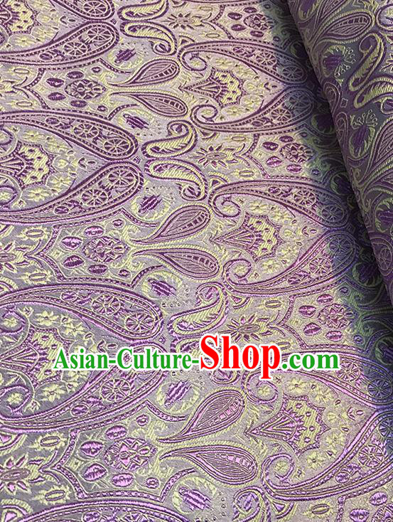 Asian Chinese Brocade Traditional Purple Pattern Fabric Silk Fabric Chinese Fabric Material