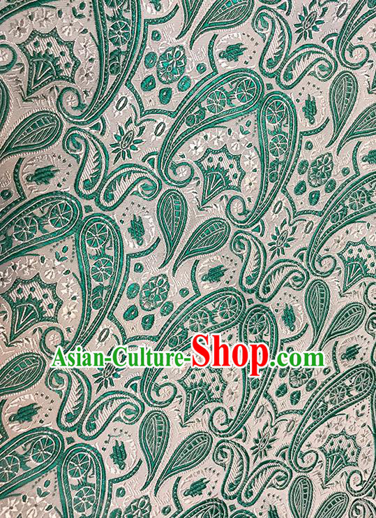 Asian Chinese Brocade Traditional Green Pattern Fabric Silk Fabric Chinese Fabric Material