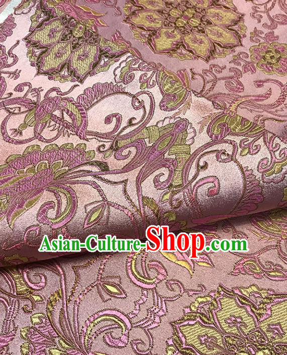 Asian Chinese Traditional Pattern Pink Brocade Fabric Silk Fabric Chinese Fabric Material