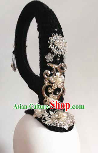 Chinese Traditional Beijing Opera Diva Hair Accessories Classical Dance Wig and Headwear for Women
