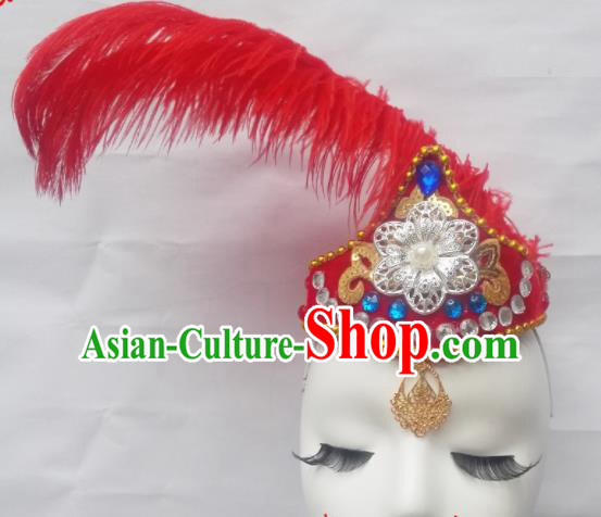 Chinese Traditional Classical Dance Hair Accessories Uyghur Folk Dance Headwear for Women