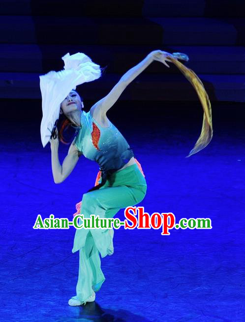 Chinese Traditional Folk Dance Costume Classical Dance Fan Dance Clothing for Women