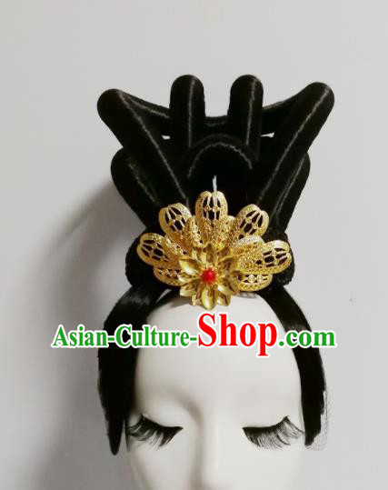 Chinese Traditional Classical Dance Folk Dance Wig and Hair Accessories for Women