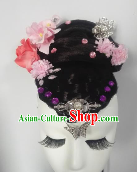 Chinese Traditional Classical Dance Headwear Folk Dance Hair Accessories for Women