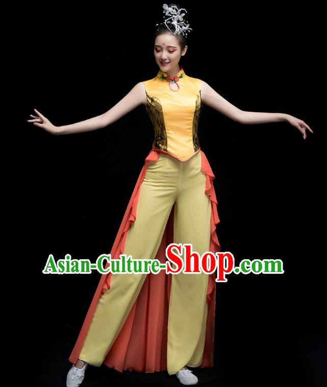 Chinese Traditional Classical Dance Dress Folk Dance Yangko Costume for Women