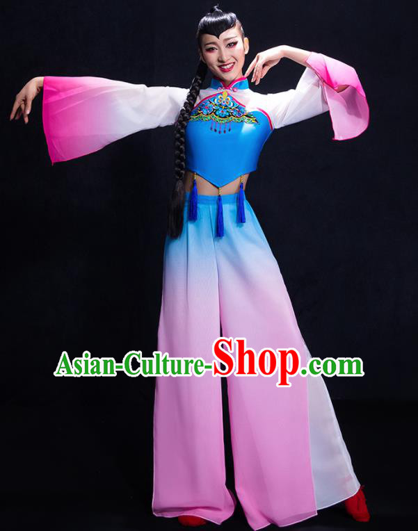 Chinese Traditional Yangko Dance Clothing Classical Umbrella Dance Costume for Women