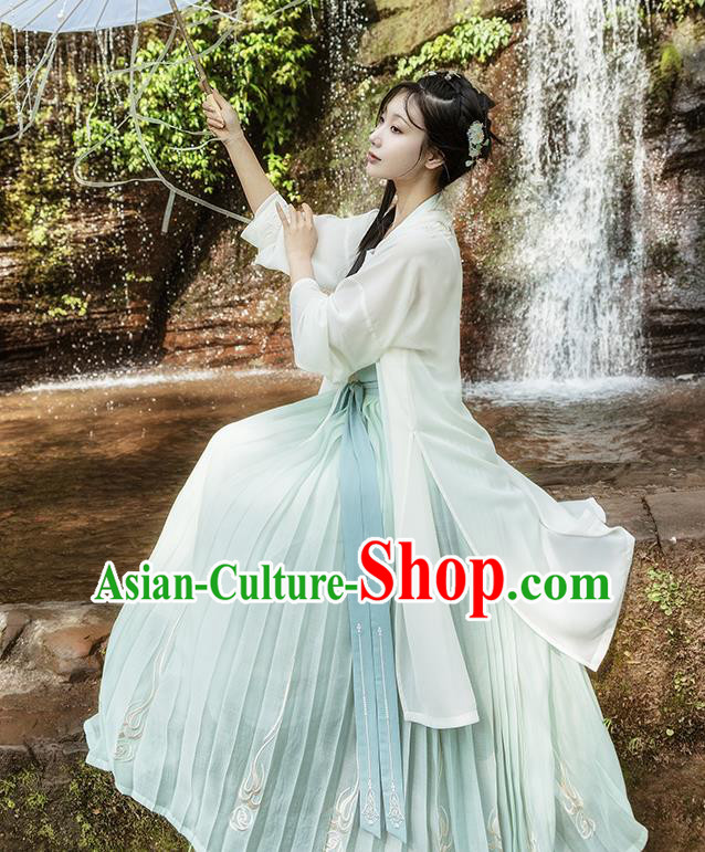 Traditional Chinese Song Dynasty Princess Embroidered Costumes Complete Set for Rich Women