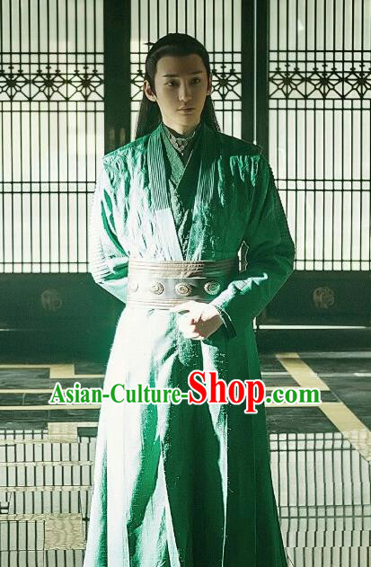 Chinese Traditional Ancient Swordsman Knight Embroidered Costumes for Men