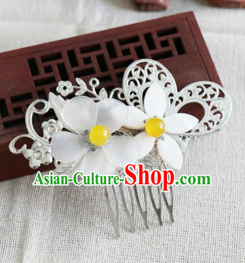 Chinese Traditional Hair Accessories Ancient Hanfu Flowers Hair Comb Hairpins for Women