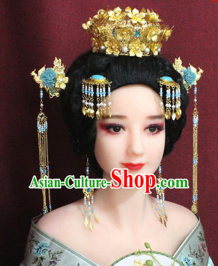 Chinese Ancient Hair Accessories Imperial Consort Phoenix Coronet Hairpins for Women
